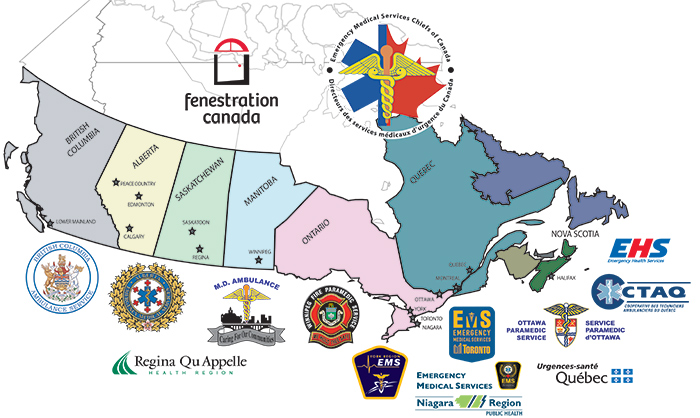 Fenestration Canada Partners Map of Canada
