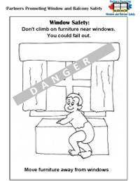 Window & Furniture Safety colouring picture