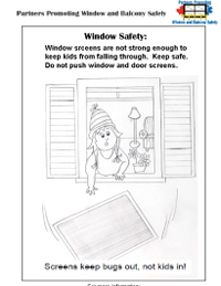 Screens Fall Out Safety colouring picture