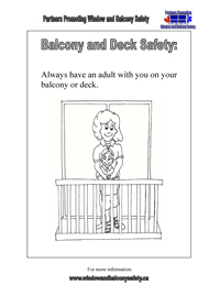 Balcony & Deck Safety colouring picture
